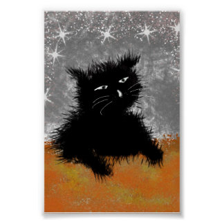 lonely cat poster