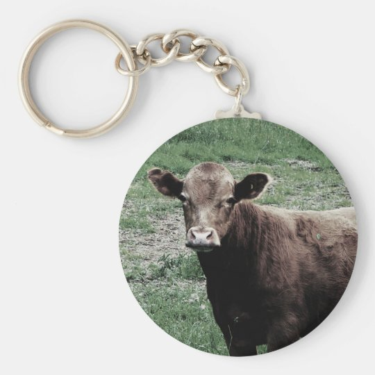 Lonely Cow Basic Round Button Key Ring