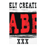 Lonely Creations UNLABELED red Personalized Stationery