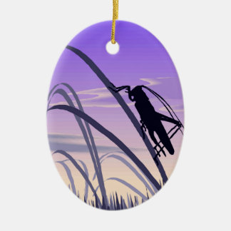 Lonely Cricket Christmas Ornament