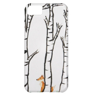Lonely Fox in Birch Trees iPhone 5C Case
