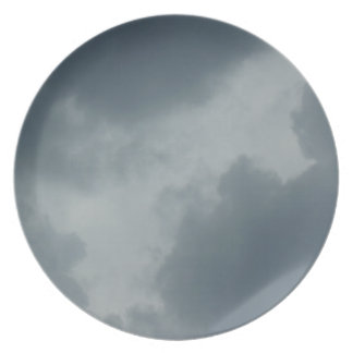 Lonely Grey Skies Dinner Plates