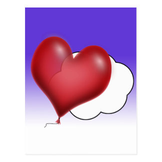Lonely Heart Balloon Post Card