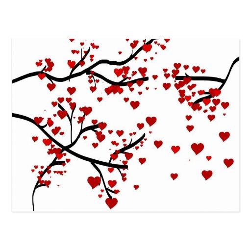Lonely Heart Tree Postcard