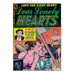 Lonely Hearts on the Beach Greeting Card
