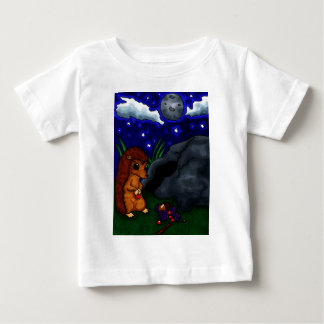 Lonely Hedgehog at night Baby T-Shirt