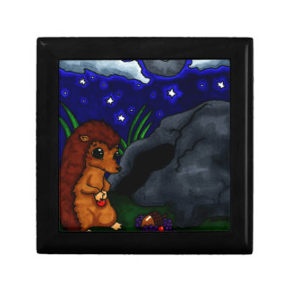 Lonely Hedgehog at night Gift Box