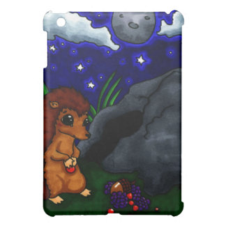 Lonely Hedgehog at night iPad Mini Cover