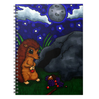 Lonely Hedgehog at night Notebook