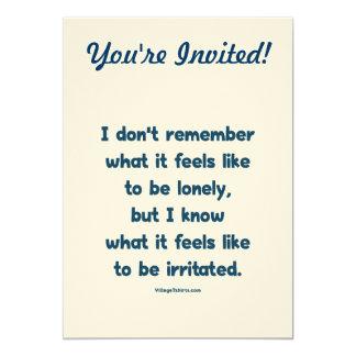 Lonely Irritated 13 Cm X 18 Cm Invitation Card