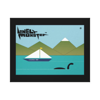Lonely Monster and Yacht Canvas Print