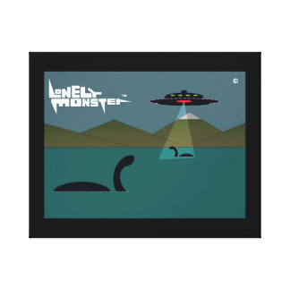 Lonely Monsters and UFO Canvas Print