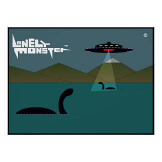 Lonely Monsters and UFO Poster