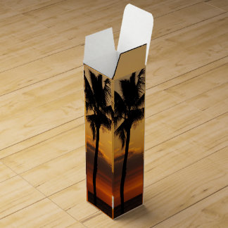 Lonely Palm Tree Wine Bottle Boxes