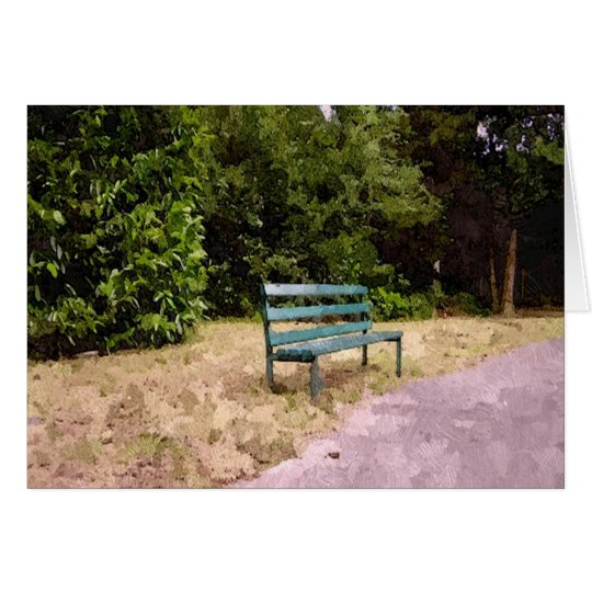 Lonely Park Bench Card
