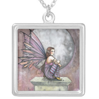 Lonely Place Fairy Pendant Necklace Sterling