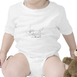 Lonely Puppy Baby Bodysuits