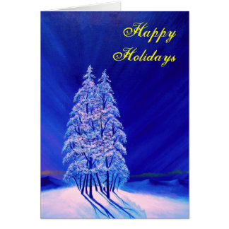 Lonely Purple Trees Greeting Card