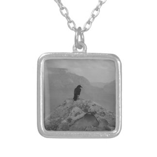 Lonely Raven Silver Plated Necklace