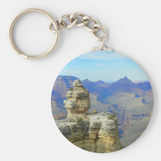 Lonely Rock Basic Round Button Key Ring