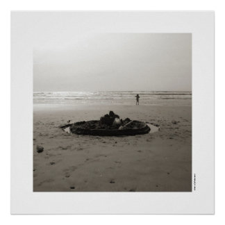 Lonely Sandcastle Poster