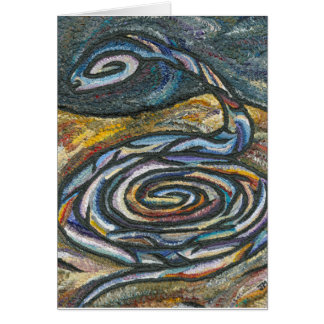 Lonely Serpent Greeting Card