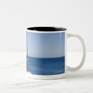 Lonely spot for a lantern, Kokkala village, Mani Two-Tone Coffee Mug