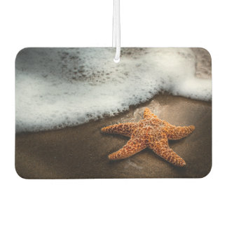 Lonely Starfish On The Beach Car Air Freshener