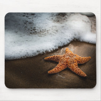 Lonely Starfish On The Beach Mouse Mat