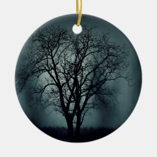 Lonely Tree at Night Christmas Tree Ornaments