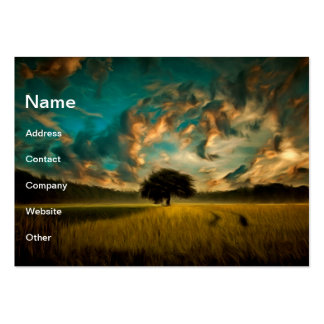 Lonely tree painting business card templates