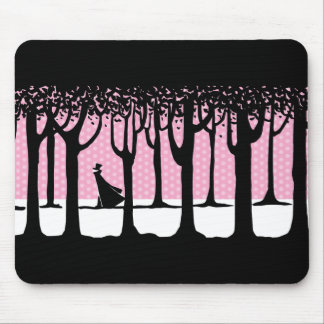 Lonely Walker in Winter Woods Mouse Pad