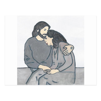 Lonely woman meets God Postcards