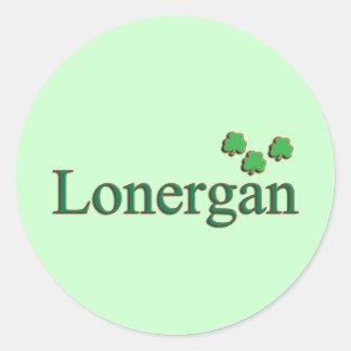 Lonergan Family Round Sticker