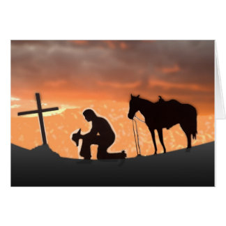 Lonesome Cowboy Greeting Card