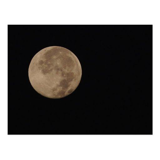 Lonesome - full moon in an dark sky post cards