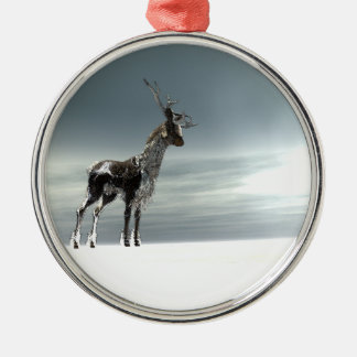 lonesome reindeer christmas ornament