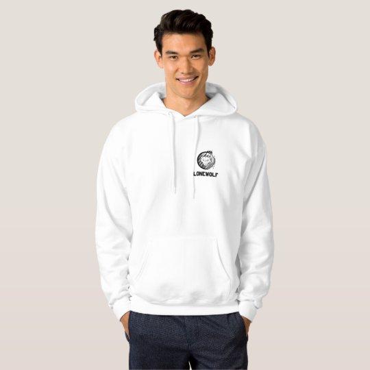 Lonewolf Men's Hooded Sweatshirt, White Hoodie