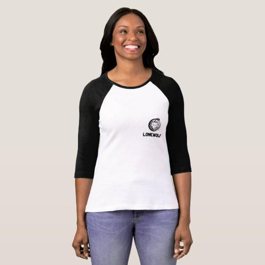 Lonewolf Women's 3/4 Sleeve Raglan T-Shirt