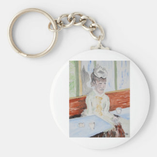 Long After Degas Left Basic Round Button Key Ring