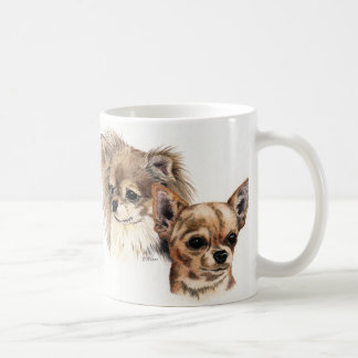 Long and smooth coat chihuahuas coffee mug