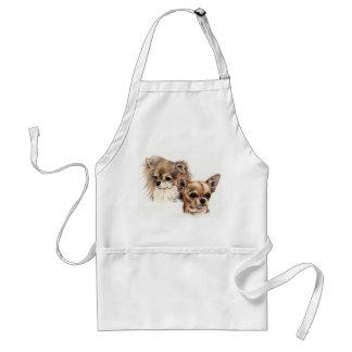 Long and smooth coat chihuahuas standard apron
