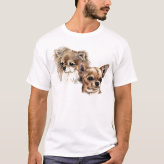 Long and smooth coat chihuahuas T-Shirt
