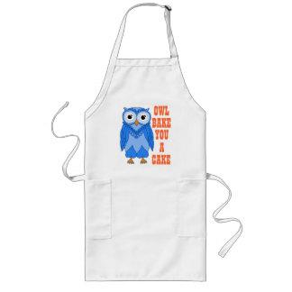 Long Apron: Blue Owl Long Apron