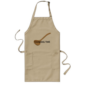 """Long Apron """"Cooking Time"""""""