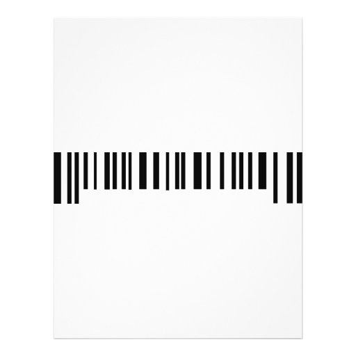 long bar code label icon custom flyer