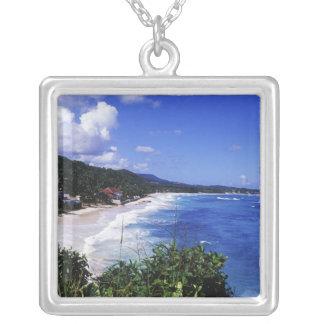 Long Bay, Port Antonio, Jamaica Silver Plated Necklace