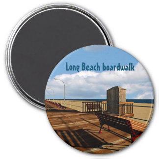 Long Beach boardwalk 7.5 Cm Round Magnet