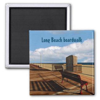 Long Beach boardwalk Square Magnet