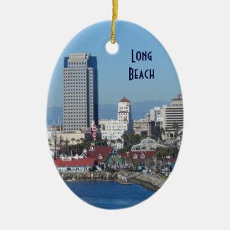 Long Beach, California Ceramic Oval Decoration